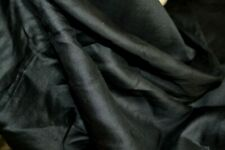 LUXURIOUS ANTIQUE BLACK SILK FABRIC MOURNING SCARF LOVELY DRAPE DOLL CLOTHES