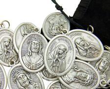 "MRT Silver Tone Ecce Homo w Mater Dolorosa Medals 7/8"" Bulk Lot 20 in a Gift Bag"