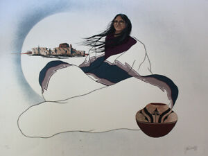 JOHN A WHITE Native American Art signed Limited Edition Print!