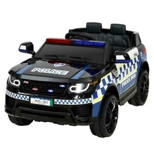 RIGO Kids Ride On Car with Remote Control - RCAR-POLICE-RGROVER-BK
