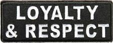 Loyalty And Respect New Embroidered Motorcycle MC Club Biker Vest Patch PAT-3870