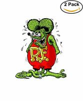 Rat Fink Hot Rod Vinyl Sticker Diecut 2 Stickers