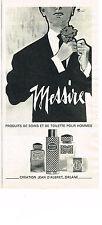 PUBLICITE  1966   JEAN D'ALBRET  eau de toilette MESSIRE