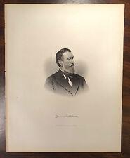JAMES HOLLAND M.D. 1815-1880 CIVIL WAR SURGEON MA 1st CAV Engraving Print 1879