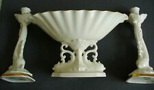Lenox bone china center bowl and candle holders - gold