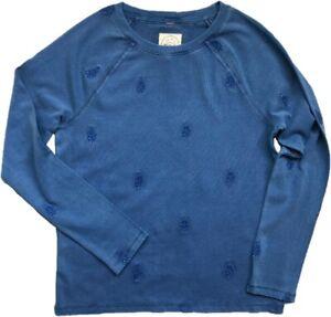 WHITE STUFF Womens Sweat Top Jumper Sweater BEACH WALK Blue Embroidered 6 - 20