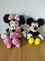 Disney Store Minnie Mouse and Vintage Mickey Mouse Bundle Soft Toys