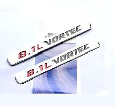 2x OEM 8.1L VORTEC emblem Badge 3D for GMC Sierra 3500 2500 HD F2U Chrome