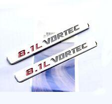 2x OEM 8.1L VORTEC emblem Badge 3D for GMC Sierra 3500 2500 HD F2U Chrome