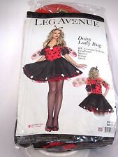 Size M/L Women's Black & Red Lady Bug Costume Cosplay Halloween Sexy Costume