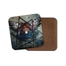 All Seeing Eye Drinks Coaster - Wings Triangle Providence Urban Cool Gift #8960