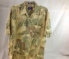 Pendleton Hawaiian Aloha Camp Shirt Tropical Leaf Men Size Large L