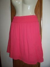 XL skirt SUNSET CORAL womens short stretch waist slip on 16 18 crinkle gausey
