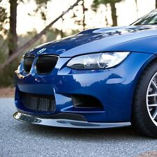 BMW E90 E92 E93 M3 Race Style Carbon Fiber Add On Front Spoiler Lip