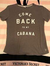 Cute! Victoria's Secret T-Shirt M Medium 'COME BACK TO MY CABANA' Tee Top Shirt