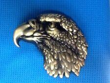 3D GOLDEN BOLD EAGLE HAWK HARRIER FALCON BIRD OF PREY RAPTOR KITE BELT BUCKLE