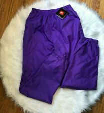 NWT Vintage Nike Women's Track Pants 100% Nylon Long Purple Size Large