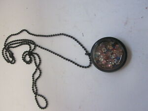 """FASHION JEWELRY NECKLACE 28"""" CHAIN FLOATING GEM PENDANT STAR OF DAVID"""