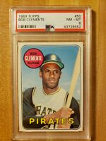 1969 Topps PSA 8 Roberto Clemente #50 Pittsburgh Pirates Hall of Fame!
