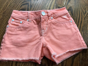 New Without Tags Girls Justice Peach Jean Shorts Size 7