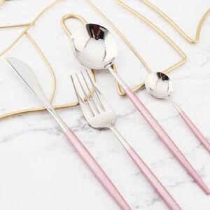 Mirror Gold Cutlery Set Stainless Steel Silverware Tableware Set Service Bright
