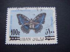 Líbano 1972 Mariposa con sobretasa 100p en 500p utilizado SG 1122