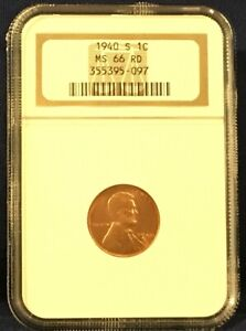1940S Lincoln Wheat Cent MS 66