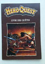 HEROQUEST livre des quêtes HERO QUEST MB GAMES WORKSHOP