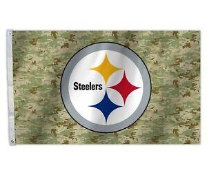 NFL PITTSBURGH STEELERS DIGITAL CAMO CAMOFLAGE TEAM FLAG