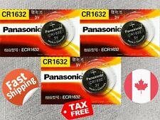 3 pcs Panasonic CR1632, BR1632, ECR1632, 3V, cell Lithium Battery Exp. 2023