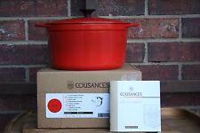 Le Creuset RARE Limited  4 qt  Deep Tall #22  Dutch Oven Cousances Chili Red NIB