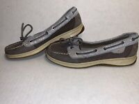 Sperry Top Sider Angelfish Boat Shoes STS90830 Graphite Fishcale Womens Size 7M