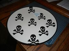 """New CMG Made in Portugal Halloween Skull and Cross Bones 9"""" Plates"""