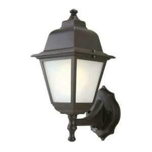 1-Light Oil-Rubbed Bronze Outdoor Dusk-to-Dawn Wall-Mount Lantern by Hampton Bay