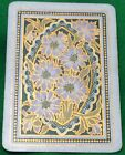 Playing Cards 1 Single Swap Card - Old Antique Wide Framed DAHLIA FLOWERS Flower