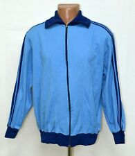 VINTAGE ADIDAS 1980'S BLUE FOOTBALL JACKET JERSEY SIZE L ADULT