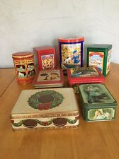 Lot (8) Assorted Collector Tins 1990's Cracker Jack, Oreo, Nestle, Crayola, Etc.