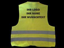 Warnweste EN ISO20471:2013 Gelb Personalisiert Warnwesten beschriftet mit Namen