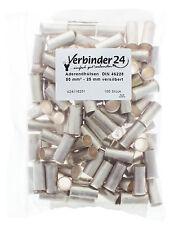 Aderendhülsen, unisoliert, 50 mm² - 25mm versilbert, 2. Wahl (Beutel á 100 St)