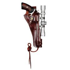 """Leather Holster Scoped Magnum Research BFR 7.5"""" Barrel Short Cylinder #8511"""