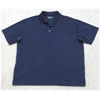 Ben Hogan Blue Polo Shirt Short Sleeve Men's Polyester Man's Extra Large XL Golf
