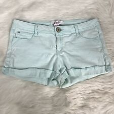 CANDIE'S Turquoise Mint Mini Shorty Booty Mid Rise Shorts Women's Juniors Size 7