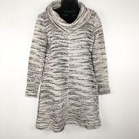 Ann Taylor LOFT Dress S Sweater Dress Cowl Neck Beige