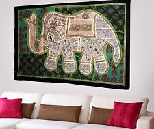 Indian Vintage Cotton Wall Tapestry Ethnic Elephant Hanging Decor Hippie X81