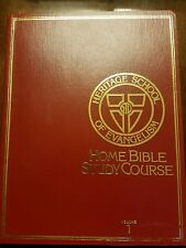 Heritage School of Evangelism Home Bible Study Course Vol 1 through 5