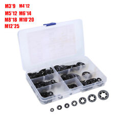 260pcs Star Nut Metal Starlock Push-on Locking Washer Fastener Assorted Set US