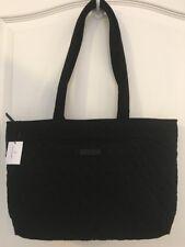 NEW Vera Bradley CLASSIC BLACK Mandy Tote - Microfiber - Handbag Purse - NWT