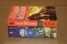 COLLEEN McCULLOUGH 2 PAPERBACK BOOKS THE TOUCH THE GRASS CROWN NICE SHAPE