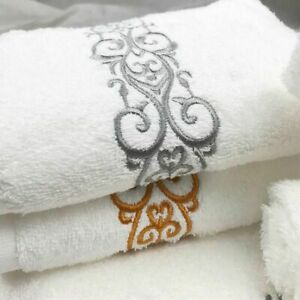 Cotton Embroidered Bath Towel Face Thick Rectangle High Absorbent Towels Textile