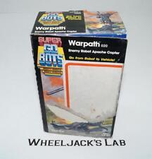Warpath Apache 020 100% Complete MIB Super Gobots Go-Bots Bandai Tonka